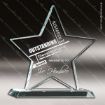Tabour Star Glass Jade Accented Trophy Award Jade Glass Awards