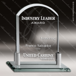 Tolosa Arch Glass Jade Accented Arch with Aluminum Holder Base Trophy Award Jade Glass Awards