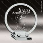 Tolmich Round Glass Jade Accented Circle Deluxe Round Plate Trophy Award Jade Glass Awards