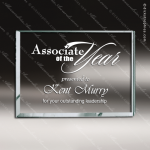 Glass Jade Accented Rectangle Paperweight Trophy Award Jade Glass Awards