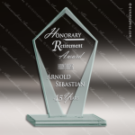 Jacarta Jewel Glass Jade Accented Diamond Trophy Award Jade Glass Awards