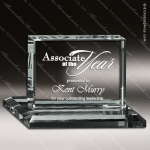 Crenshaw Rectangle Glass Jade Accented Landscape Trophy Award Jade Glass Awards