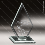 Diamond Glass Jade Accented Premier Spear Trophy Award Jade Glass Awards
