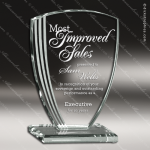 Pachello Shield Glass Jade Accented Arch Trophy Award Jade Glass Awards