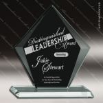 Pensa Sable Glass Black Accented Arrowhead Trophy Award Jade Glass Awards