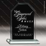 Pensa Dome Glass Black Accented Arch Rectangle Trophy Award Jade Glass Awards