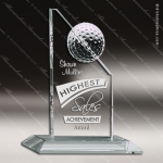 Cipolla Golf Glass Jade Accented Golf Tower Trophy Award Jade Glass Awards