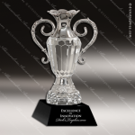 Crystal Cup Black Accented Silver Cup Trophy Award JDS Industies Crystal Trophy Awards