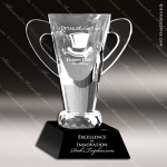 Crystal Black Accented Loving Cup Trophy Award JDS Industies Crystal Trophy Awards