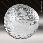 Crystal Sport Golf Ball Paperweight Trophy Award JDS Industies Crystal Trophy Awards
