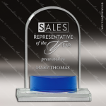 Crystal Blue Accented Arch Trophy Award JDS Industies Crystal Trophy Awards