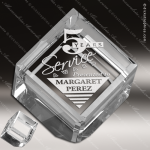 Crystal  Cube Paperweight Trophy Award JDS Industies Crystal Trophy Awards