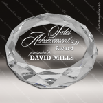 Crystal  Diamond Cut Paperweight Trophy Award JDS Industies Crystal Trophy Awards