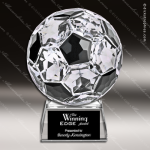 Crystal Sport Soccer Ball On Base Trophy Award JDS Industies Crystal Trophy Awards