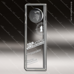 Crystal  Rectangle Tower Globe Trophy Award JDS Industies Crystal Trophy Awards