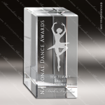 Crystal  Rectangle Tower Block Trophy Award JDS Industies Crystal Trophy Awards