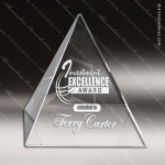 Crystal  Pyramid Paperweight Trophy Award JDS Industies Crystal Trophy Awards