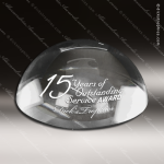 Crystal  Half Sphere Dome Paperweight Trophy Award JDS Industies Crystal Trophy Awards