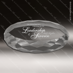 Crystal  Oval Paperweight Trophy Award JDS Industies Crystal Trophy Awards