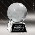 Crystal  Globe Trophy Award JDS Industies Crystal Trophy Awards