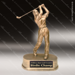 Kids Resin Gold Series Golfer Girls Trophy Awards Kids Golf Trophies