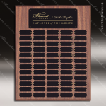 The Johnstone Laminated Walnut Perpetual Plaque  60 Black Plates Laminate Walnut Perpetual Plaques