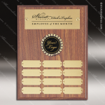 The Morvilla Laminate Walnut Perpetual Plaque  12 Gold Plates Laminate Walnut Perpetual Plaques