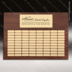 The Mellado Walnut Perpetual Plaque  80 Gold Plates Large Perpetual Plaques - 40-100 Plates