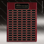 The Jagger Rosewood Perpetual Plaque  84 Black Plates Large Perpetual Plaques - 40-100 Plates