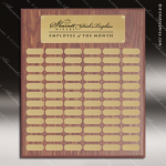 The Morvilla Laminate Walnut Perpetual Plaque  72 Gold Plates Large Perpetual Plaques - 40-100 Plates