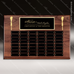 The Mercarda Walnut Perpetual Plaque  48 Black Plates Large Perpetual Plaques - 40-100 Plates