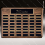 The Trinidad Walnut Perpetual Plaque  48 Black Plates Large Perpetual Plaques - 40-100 Plates