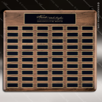 The Trinidad Walnut Perpetual Plaque  60 Black Plates Large Perpetual Plaques - 40-100 Plates