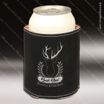 Engraved Leather Beverage Holder Black Laser Etched Gift Leather Beverage Holders