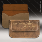 Engraved Leather Business Card Holder Soft Case Desk Gift Rustic Leather Business Card Holders