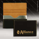 Engraved Leather Business Card Holder Hard Case Desk Gift Black Gold Leather Business Card Holders