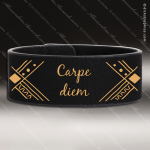 Laser Engraved Leather Cuff Bracelet Black Gold Etched Gift Leather Cuff Bracelets
