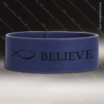 Laser Engraved Leather Cuff Bracelet Blue Etched Gift Leather Cuff Bracelets
