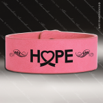 Laser Engraved Leather Cuff Bracelet Pink Etched Gift Leather Cuff Bracelets