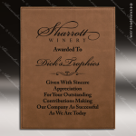 Engraved Leather Plaque Dark Brown Wall Placard Award Leather Finish Plaques