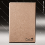 Laser Engraved Leather Journal Light Brown Etched Gift Leather Journals