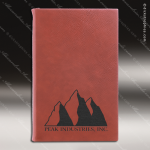 Laser Engraved Leather Journal Rose' Etched Gift Leather Journals