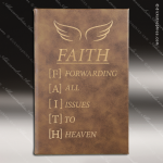 Laser Engraved Leather Journal Rustic Etched Gift Leather Journals