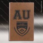 Laser Engraved Leather Journal Dark Brown Etched Gift Leather Journals