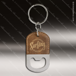 Laser Etched Engraved Keychain Leather Bottle Opener Oval Rustic Gift Award Leather Keychain Gifts