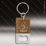 Laser Etched Engraved Keychain Leather Bottle Opener Rectangle Rustic Gift Leather Keychain Gifts