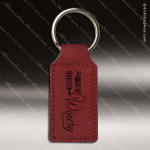 Laser Etched Engraved Keychain Leather Rectangle Rose' Gift Award Leather Keychains