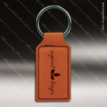 Laser Etched Engraved Keychain Leather Rectangle Rawhide Gift Award Leather Keychains
