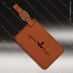 Laser Engraved Leather Luggage Tag Rawhide Etched Gift Leather Luggage Tags