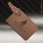 Laser Engraved Leather Luggage Tag Dark Brown Etched Gift Leather Luggage Tags